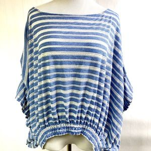 Free People oversized Slouchy Top Stripes Small